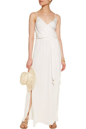 MELISSA ODABASH Zoe wrap-effect stretch-modal maxi dress
