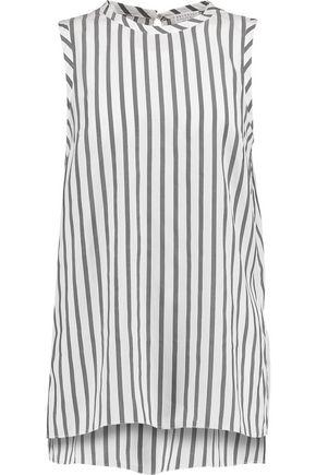 BRUNELLO CUCINELLI Striped silk top