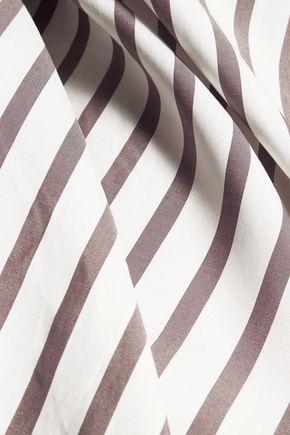BRUNELLO CUCINELLI Striped silk tunic