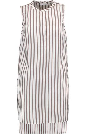 BRUNELLO CUCINELLI Striped silk tunic