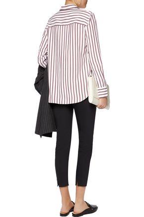 BRUNELLO CUCINELLI Striped silk crepe de chine shirt