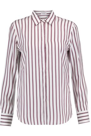 BRUNELLO CUCINELLI Striped silk crepe de chine shirt