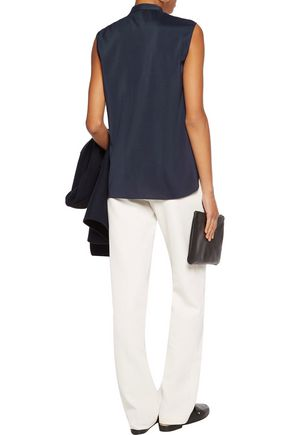BRUNELLO CUCINELLI Chain-trimmed silk-blend top