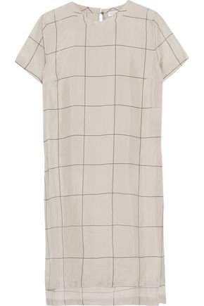 BRUNELLO CUCINELLI Printed silk top