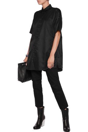 MM6 by MAISON MARGIELA Oversized cotton-blend sateen top