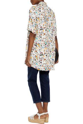 MM6 by MAISON MARGIELA Printed crepe shirt