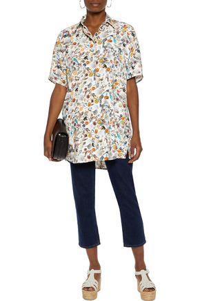 MM6 MAISON MARGIELA Printed crepe shirt