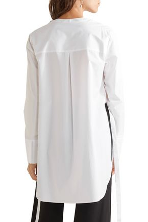 THEORY Maraseille cotton-poplin tunic