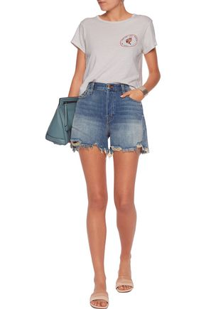 J BRAND Distressed denim shorts