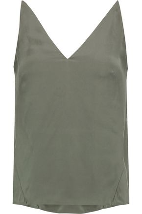 J BRAND Brushed-silk camisole