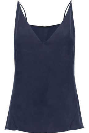 J BRAND Lucy washed-silk top