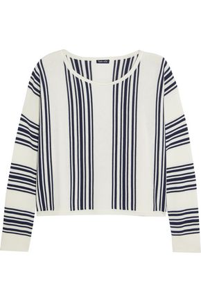 SPLENDID Bayside striped stretch-knit sweatshirt
