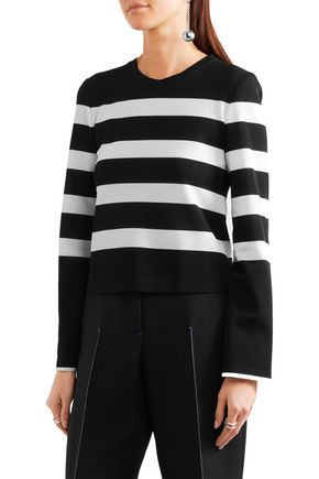 CALVIN KLEIN COLLECTION Striped stretch-jersey top