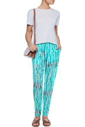 TART COLLECTIONS Bemini printed voile straight-leg pants