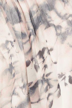 HAUTE HIPPIE Cutout silk-chiffon top