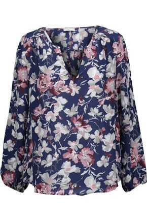 JOIE Odelette floral-print washed-silk top