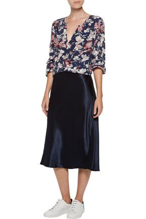 JOIE Odelette floral-print washed-silk top