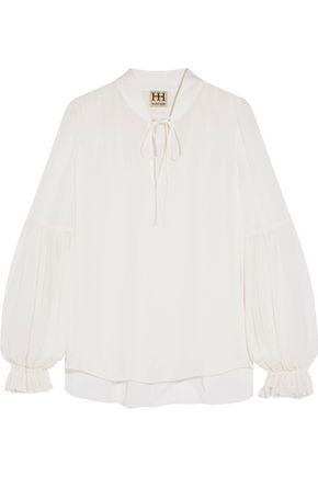 HAUTE HIPPIE The Carver silk-chiffon blouse
