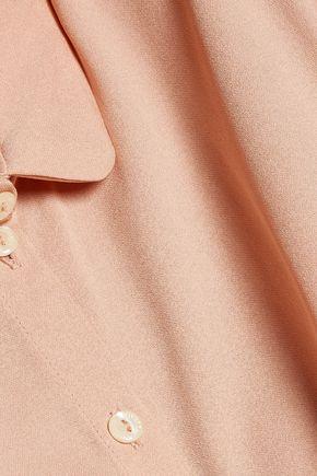 VIVETTA Pussy-bow crepe shirt