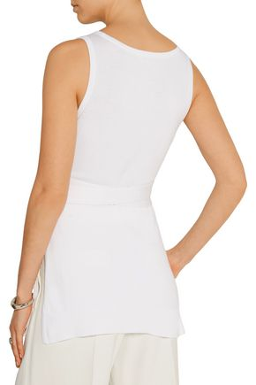MICHAEL KORS COLLECTION Belted cotton top
