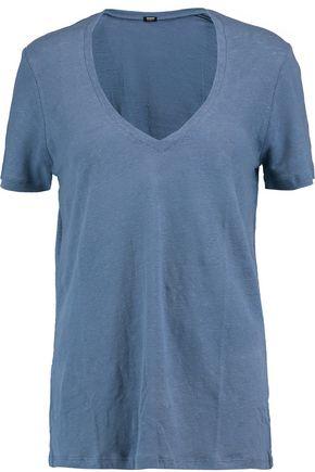 MONROW Slub linen T-shirt