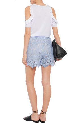 GOEN.J Embellished crocheted cotton shorts