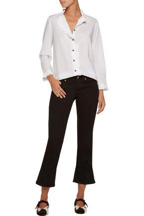 M.I.H JEANS Laing ruffled cotton-poplin shirt