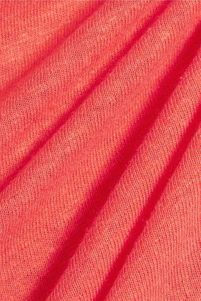 ZOE KARSSEN Distressed printed linen-blend jersey T-shirt