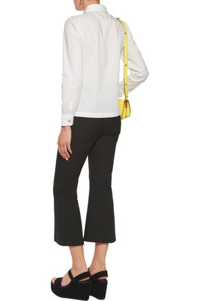 LOVE MOSCHINO Cotton-blend poplin shirt