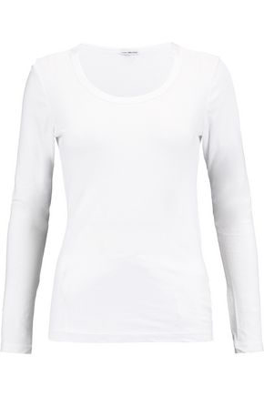 JAMES PERSE Stretch cotton-blend top