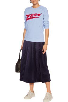 ZOE KARSSEN Zero flocked French cotton-terry sweatshirt