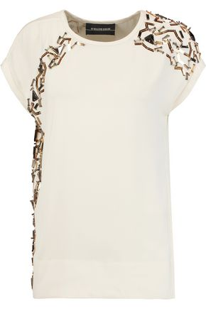 BY MALENE BIRGER Wicca embellished crepe top