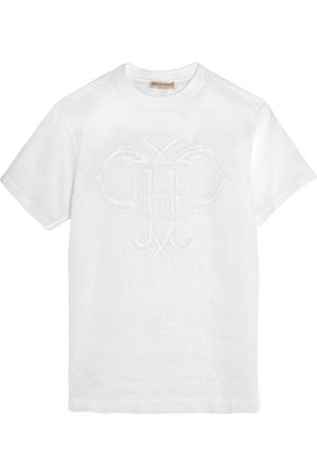 EMILIO PUCCI Embroidered cotton-organza top
