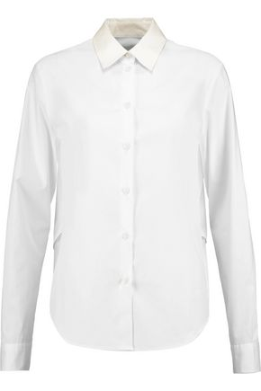 MM6 by MAISON MARGIELA Layered cotton-twill shirt