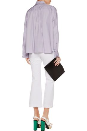 MM6 by MAISON MARGIELA Pintucked cotton-poplin shirt