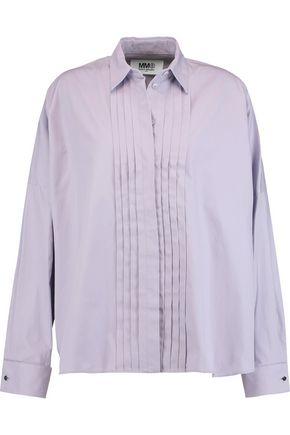 MM6 by MAISON MARGIELA Pintucked cotton-poplin shirt