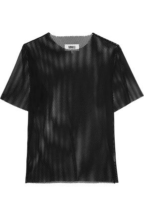 MM6 by MAISON MARGIELA Velvet-mesh top