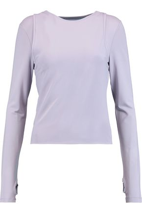 MM6 by MAISON MARGIELA Layered stretch-jersey top