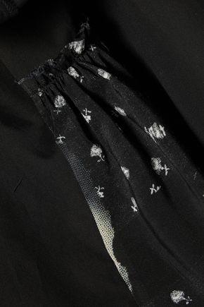 MM6 MAISON MARGIELA Voile-paneled cotton-poplin shirt