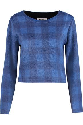 MM6 by MAISON MARGIELA Checked brushed-felt sweater