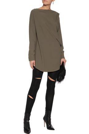 MM6 by MAISON MARGIELA Cutout crepe de chine top