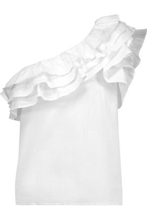 W118 by WALTER BAKER Martyn one-shoulder ruffled cotton top