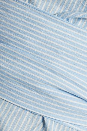 W118 by WALTER BAKER Knotted striped cotton-poplin top