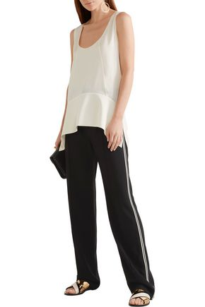 BY MALENE BIRGER Sappia asymmetric stretch-silk satin tank