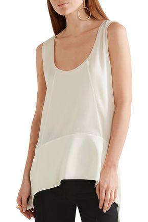 BY MALENE BIRGER Sappia asymmetric stretch-silk satin tank
