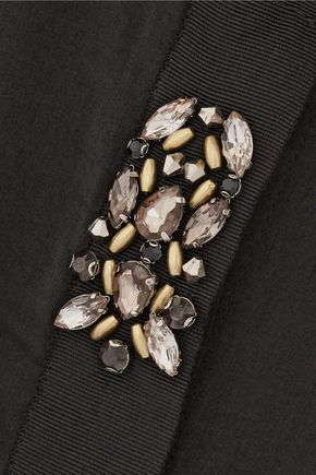 DAY BIRGER ET MIKKELSEN Night Laquer embellished washed-crepe de chine top