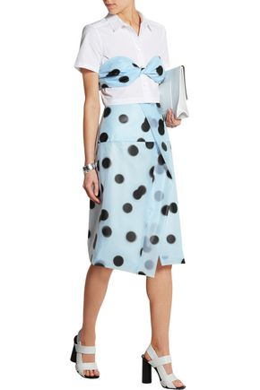 MARC BY MARC JACOBS Misty polka-dot PU bandeau top
