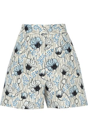 BOTTEGA VENETA Printed cotton shorts