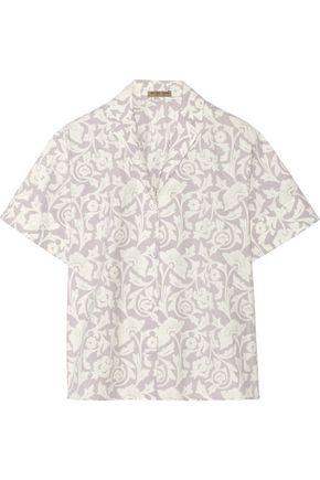 BOTTEGA VENETA Printed washed cotton-poplin shirt
