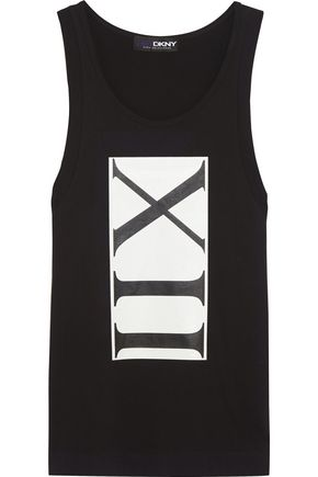 DKNY + Cara Delevingne printed cotton-jersey tank